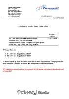 Ex Charter Cadet price offer