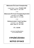 Notice of Race CECC CZE 2015
